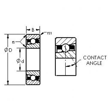 AST H7014C/HQ1 angular contact ball bearings