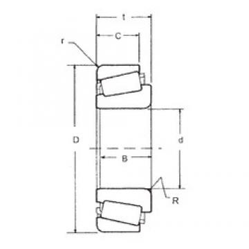 19.05 mm x 45,237 mm x 16,637 mm  FBJ LM11949/LM11910 tapered roller bearings
