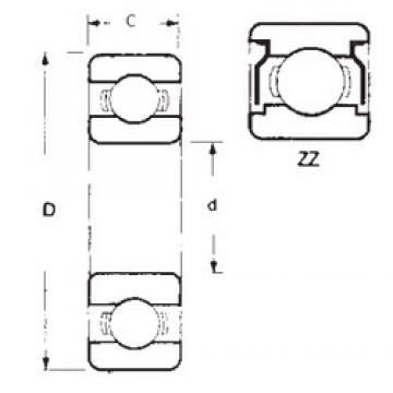 70 mm x 110 mm x 20 mm  FBJ 6014ZZ deep groove ball bearings