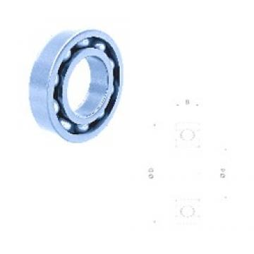 17 mm x 62 mm x 17 mm  Fersa 6403-2RS deep groove ball bearings