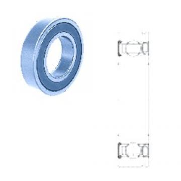 35 mm x 67 mm x 22,500 mm  Fersa F18025 deep groove ball bearings